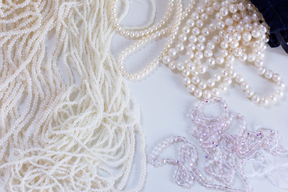 wedding dress beads
