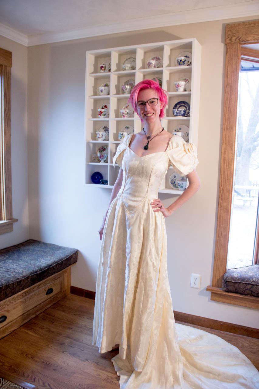 moms wedding dress