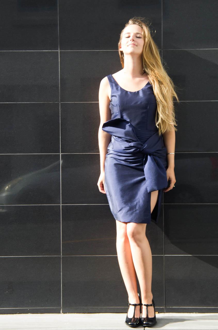 handmade silk dress