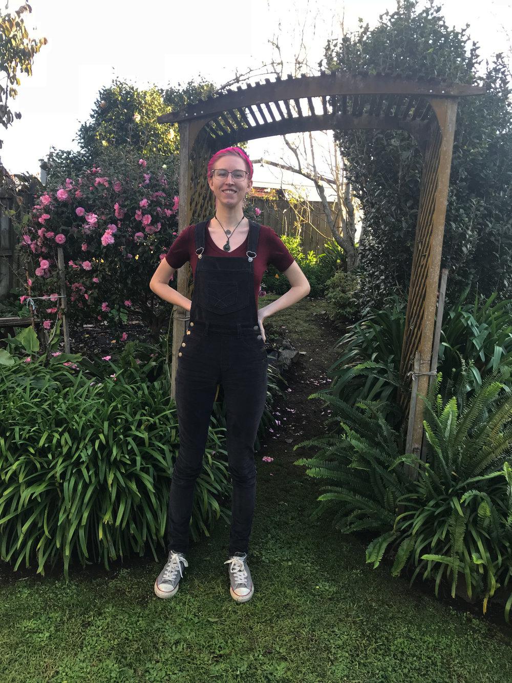 ginger skinny overalls hack