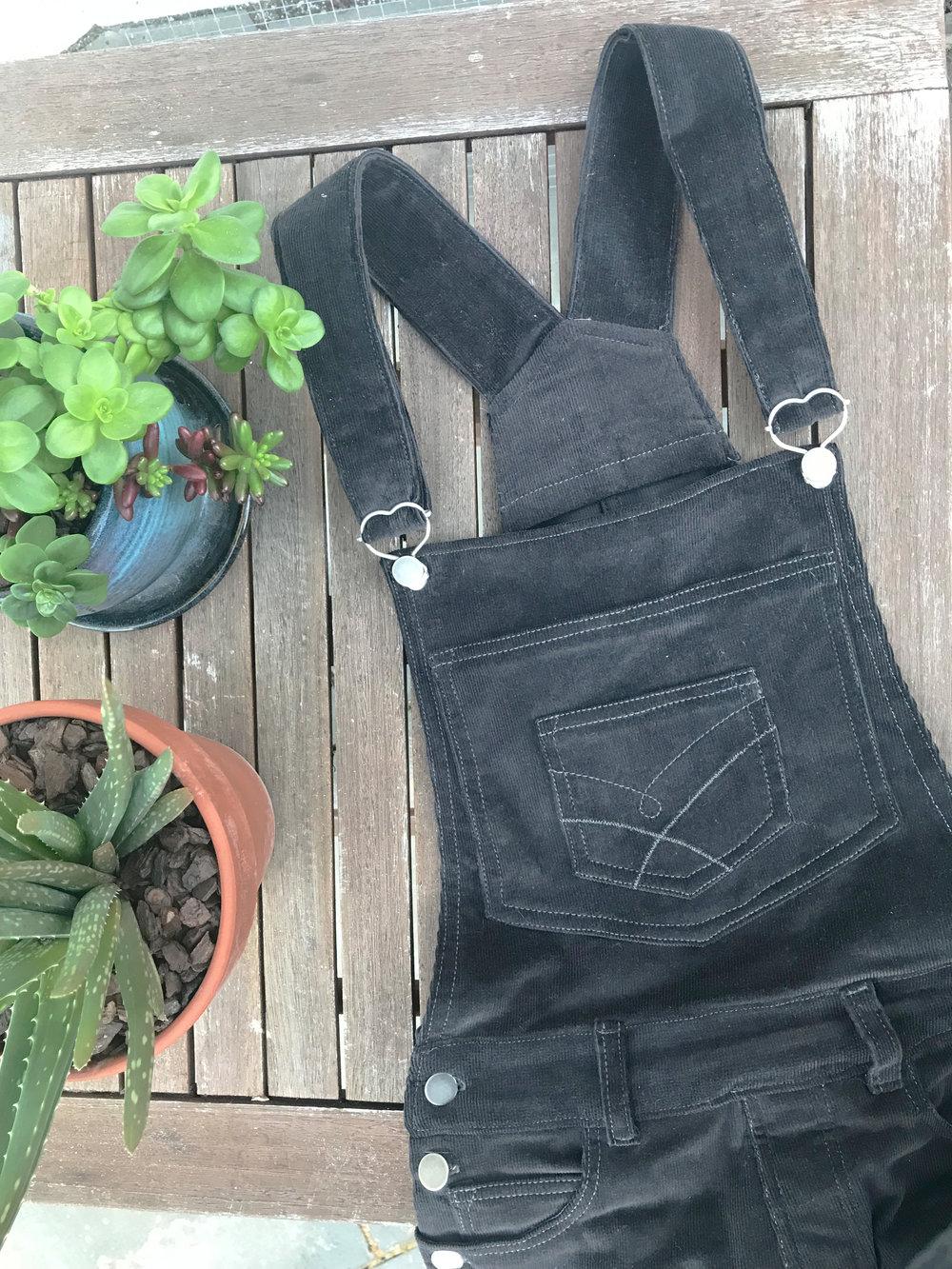 flatlay overalls detail