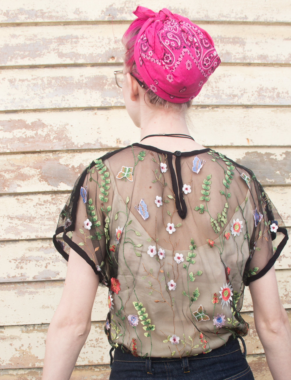 kimono sleeved top