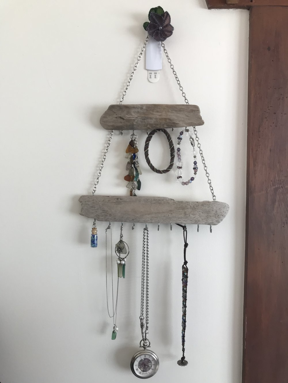 driftwood jewelry rack