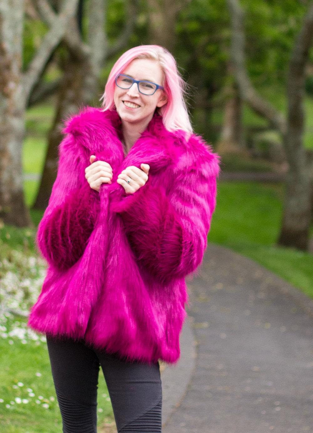 handmade fur coat
