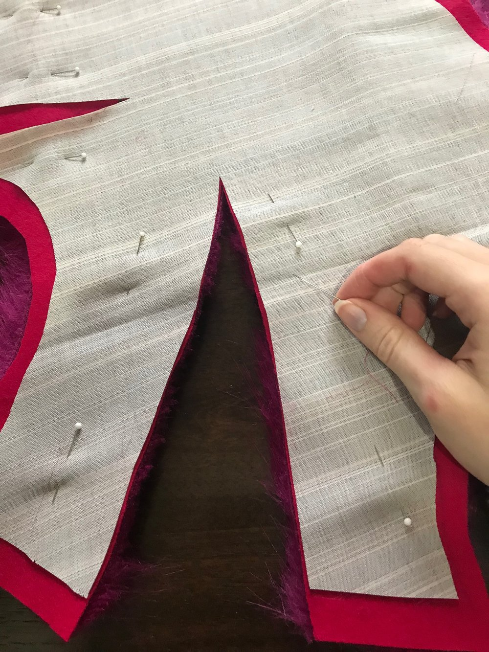 sewing a dart in faux fur