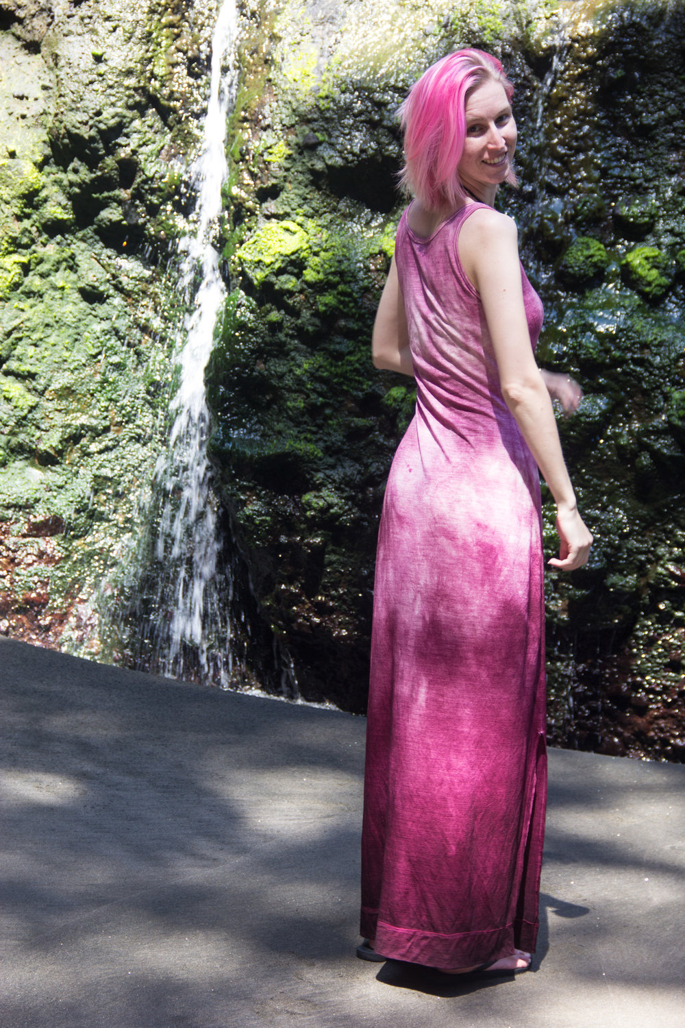 back of merino maxi dress