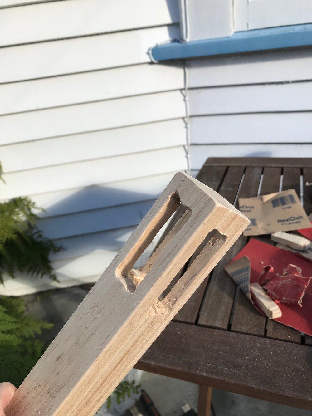 finishing diy slate frame