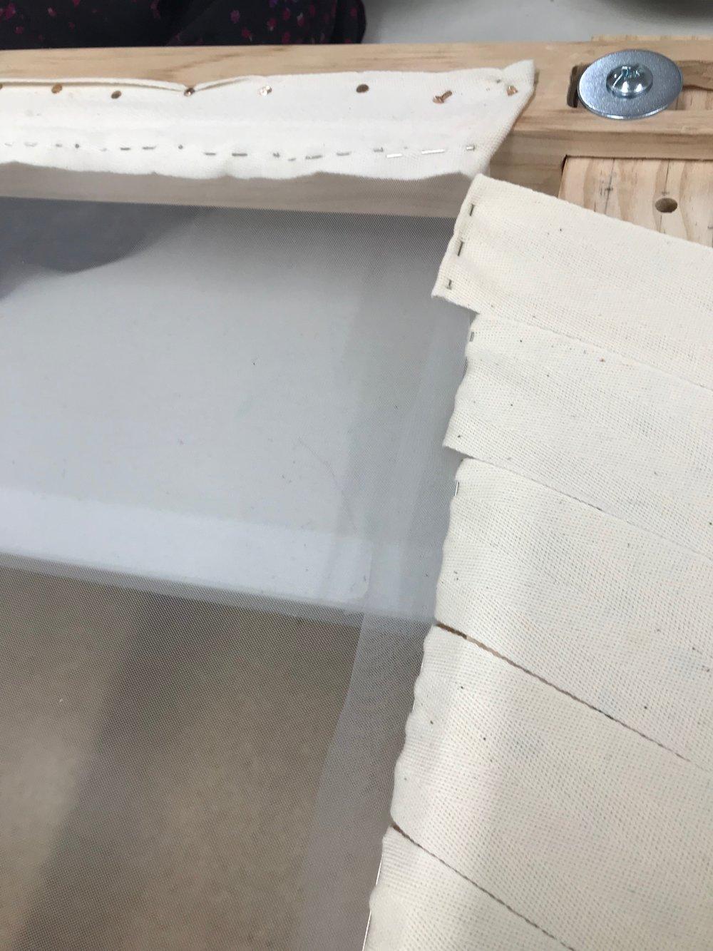 finished stretched slate frame