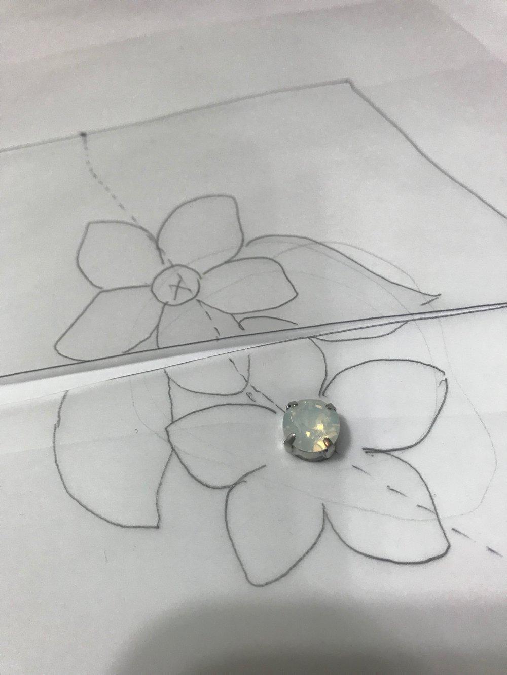 flower motif for handmade wedding dress