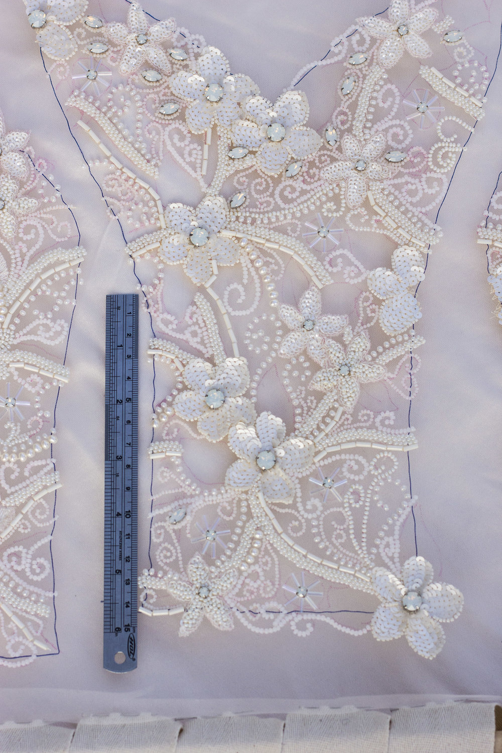 wedding dress tambour embroidery