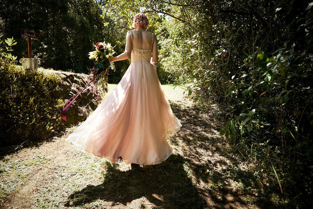 handmade wedding dress silk circle skirt