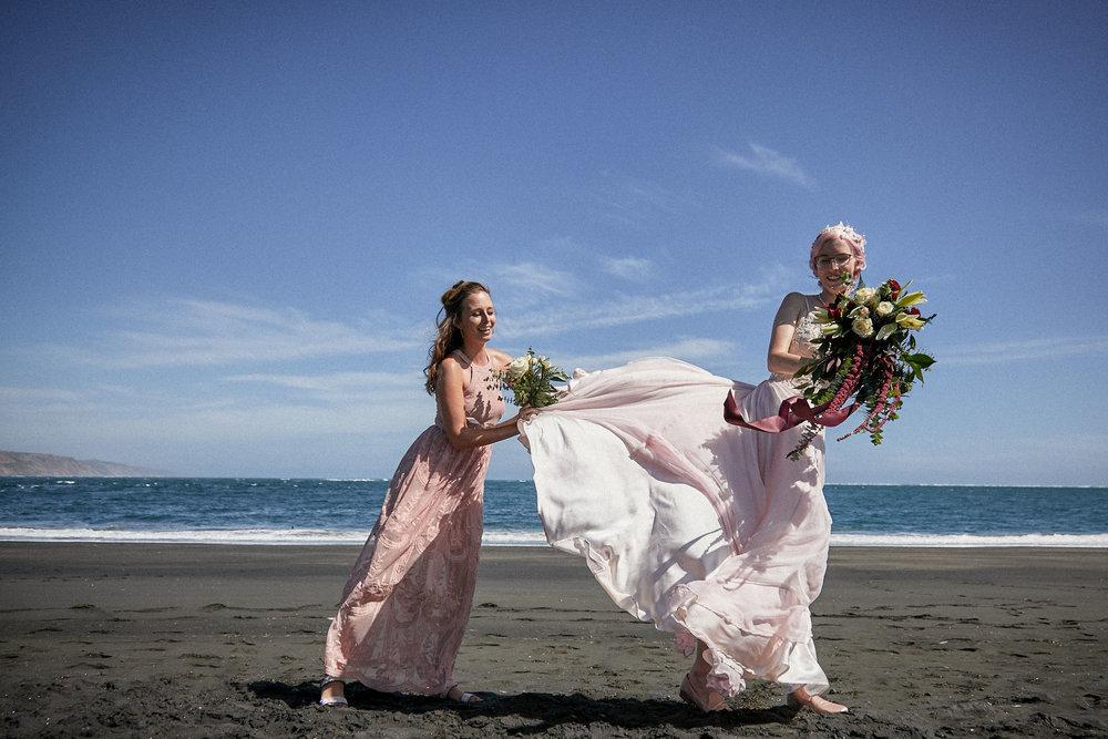 handmade wedding dress photoshoot