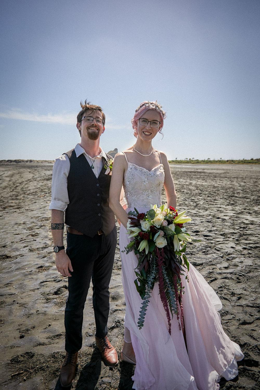 portrait of wedding day