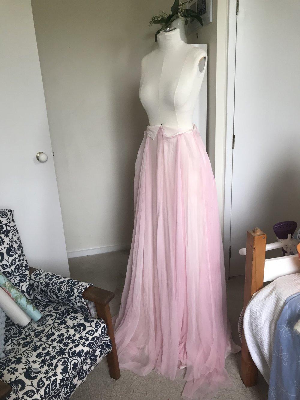 Skirt Layer 2: Pink Silk Gauze