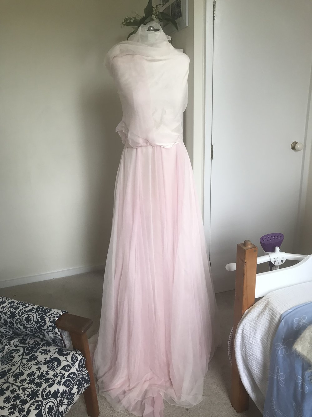 Skirt Layer 3: Ivory Silk Gauze