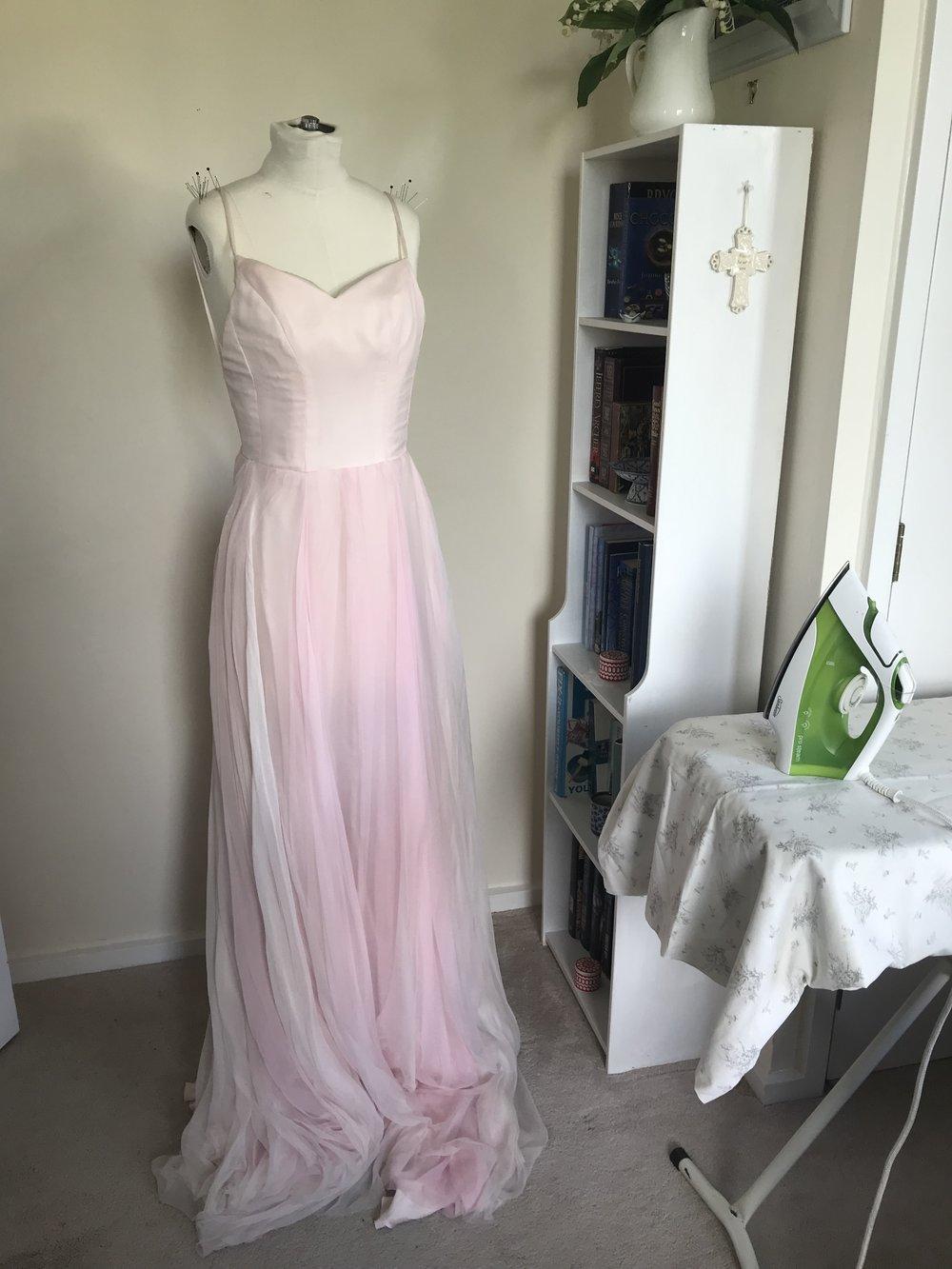 handmade silk wedding dress