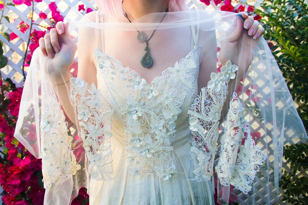 tambour bead wedding dress