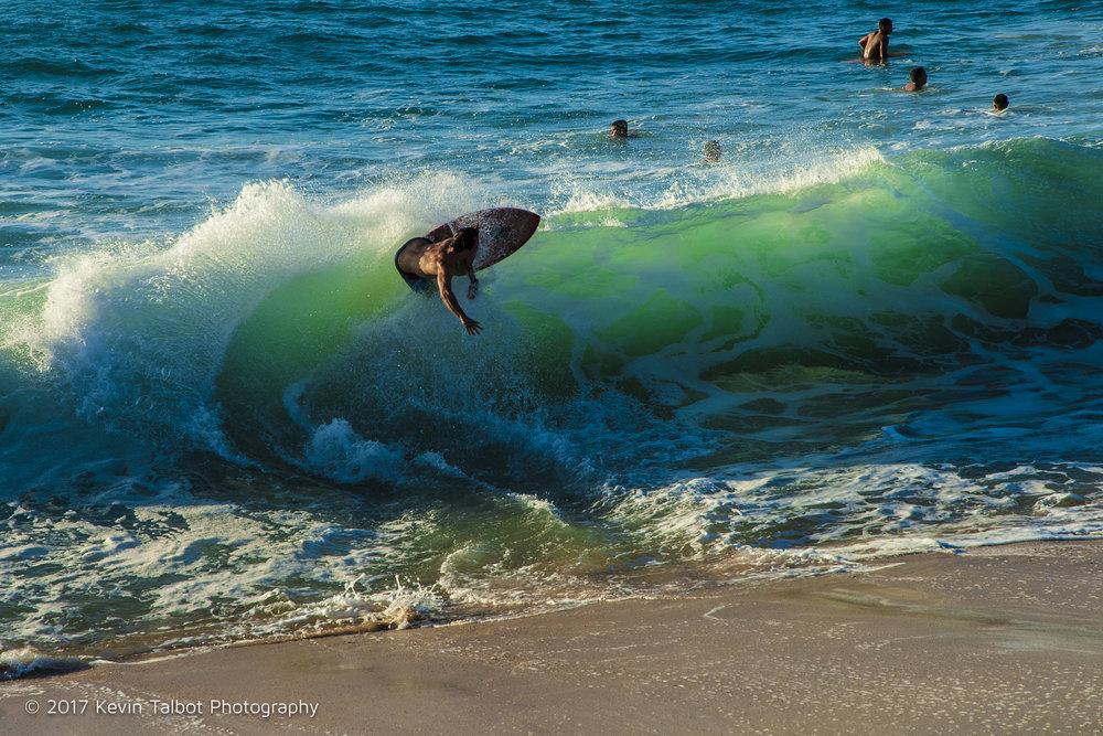 Waimea Bay skim boarder