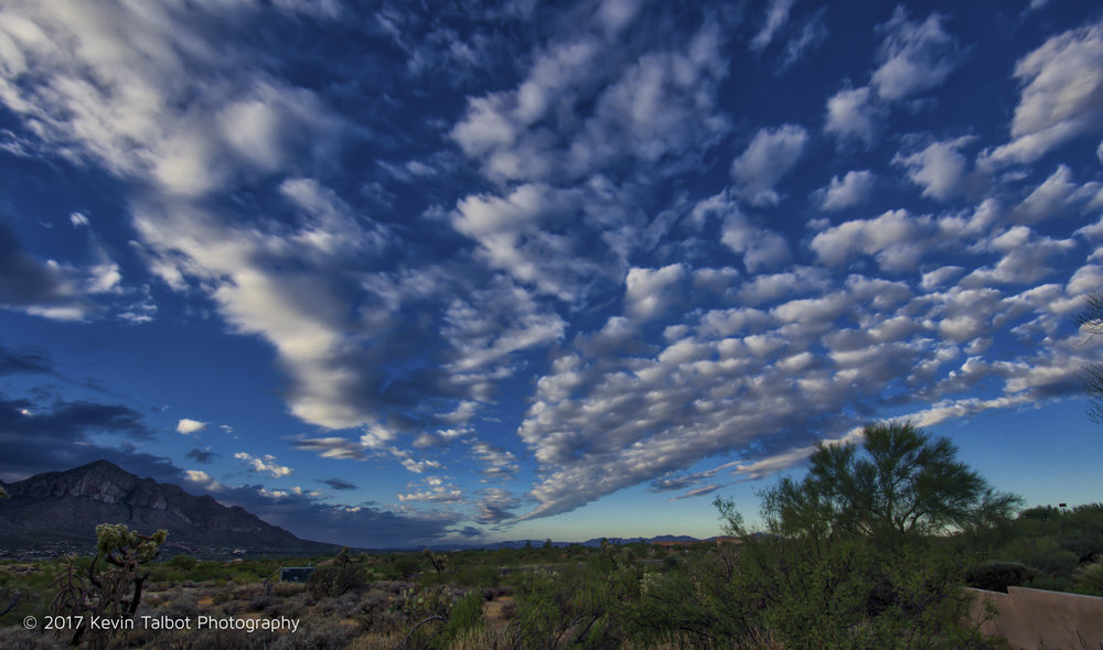 Tucson  morning clouds