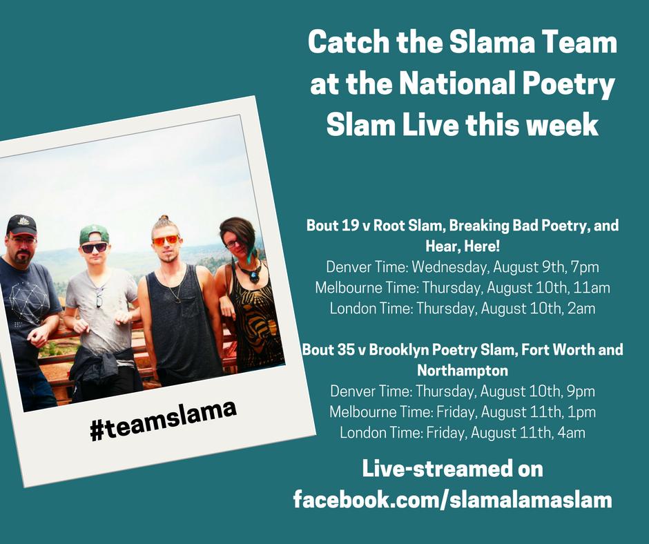Team Slama's bout schedule
