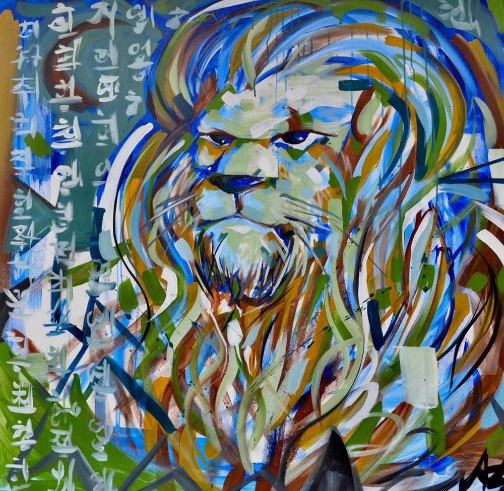 JAZZ LIONS  4 x 4 FT.