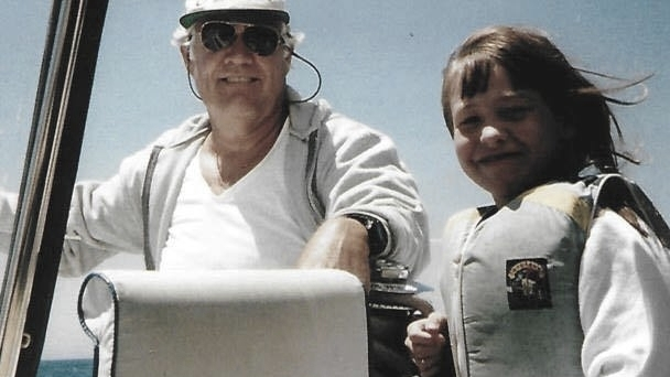 Gramps and Amanda Sailing (Catalina Island)