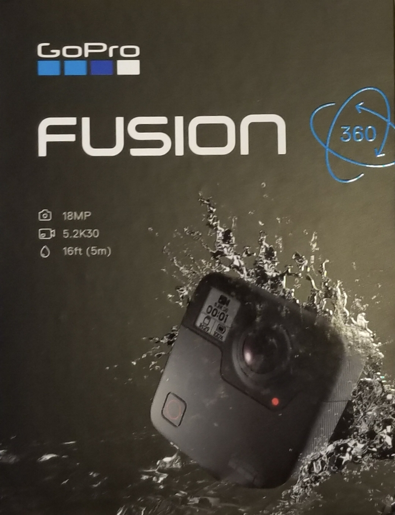 gopro fusion 360 virtual reality camera box