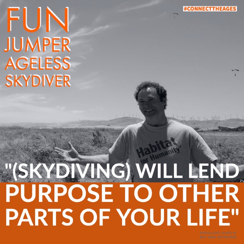 fun jumper parachuter over phorty forty connect the ages bay area skydiving
