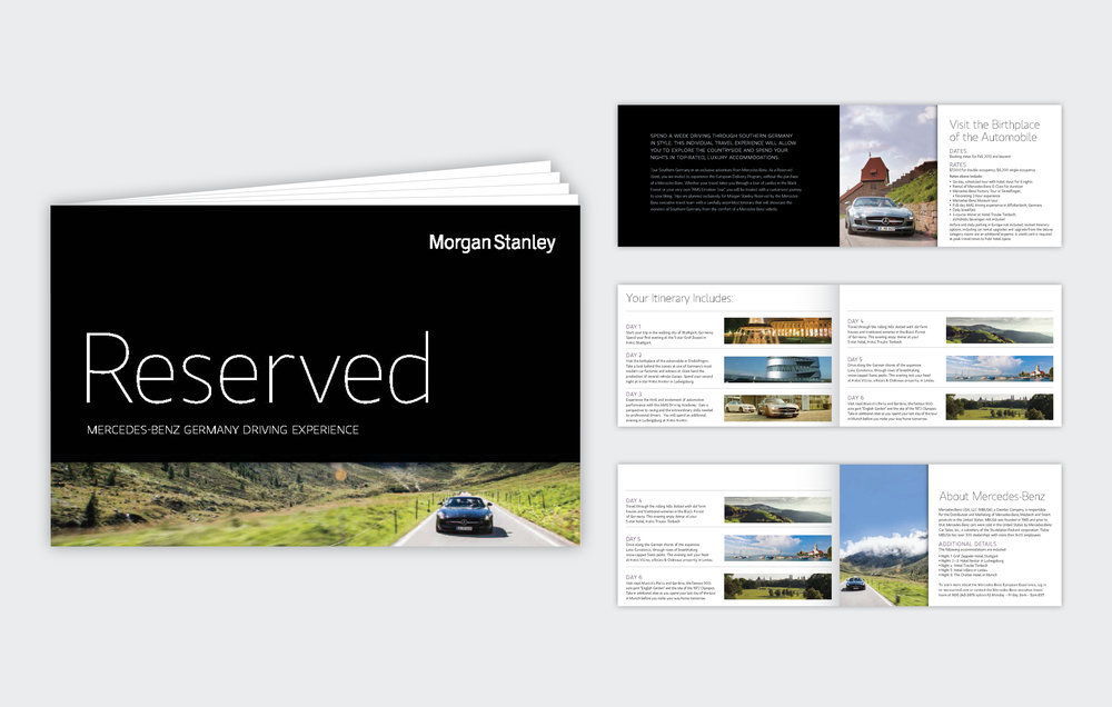 Reserved Brochure  Morgan Stanley, 2009 to Present, New York, NY