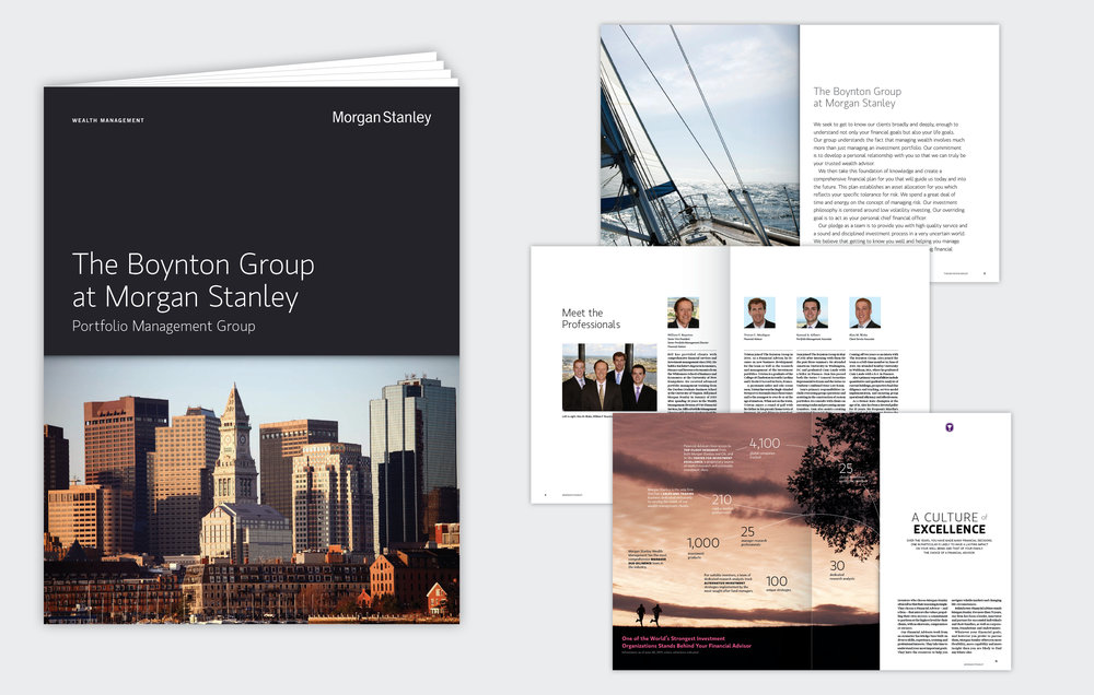 Custom Brochure  Morgan Stanley, 2009 to Present, New York, NY