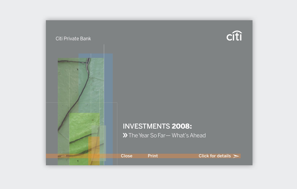 Investments 2008 Digital Invitation  Citi Smith Barney, 2007 to 2009, New York, NY  Interactive PDF