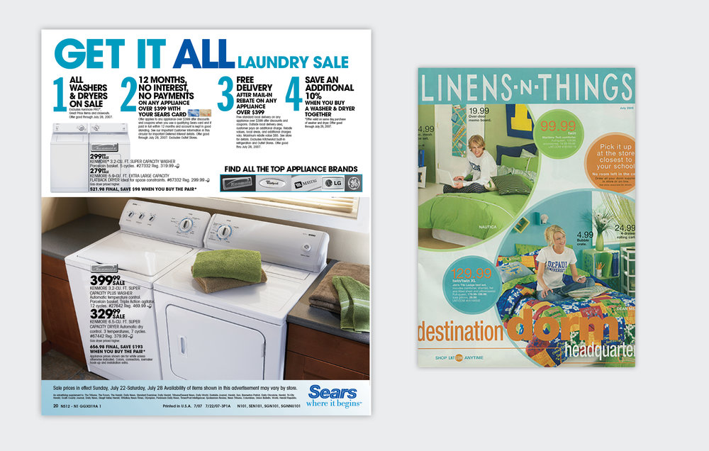 Sears, Linens-n-Things Weekly Circulars  Ambrosi Black Dot/Schawk, 2000 to 2005, Chicago IL