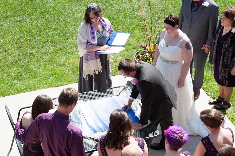 Wedding Ketubah Oliver and Heather signing.jpg