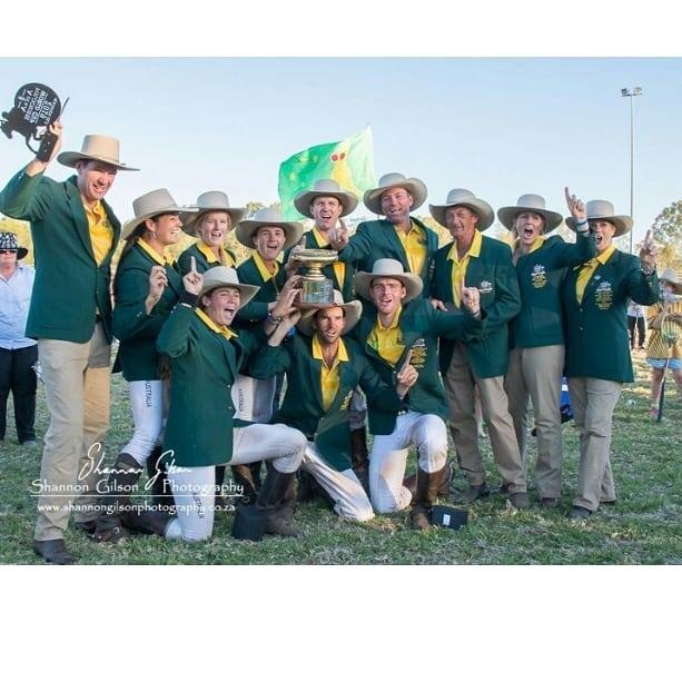 The champions of the 2019 Adina Polocrosse World Cup: Australia . @auspolocrosse_wc2019 #polocrosseworldcup2019 By @shannongilsonphotography