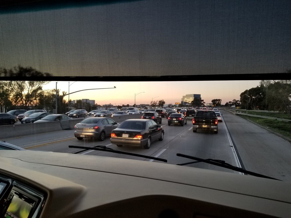 We hit traffic in LA!!! Surprising, I know :)