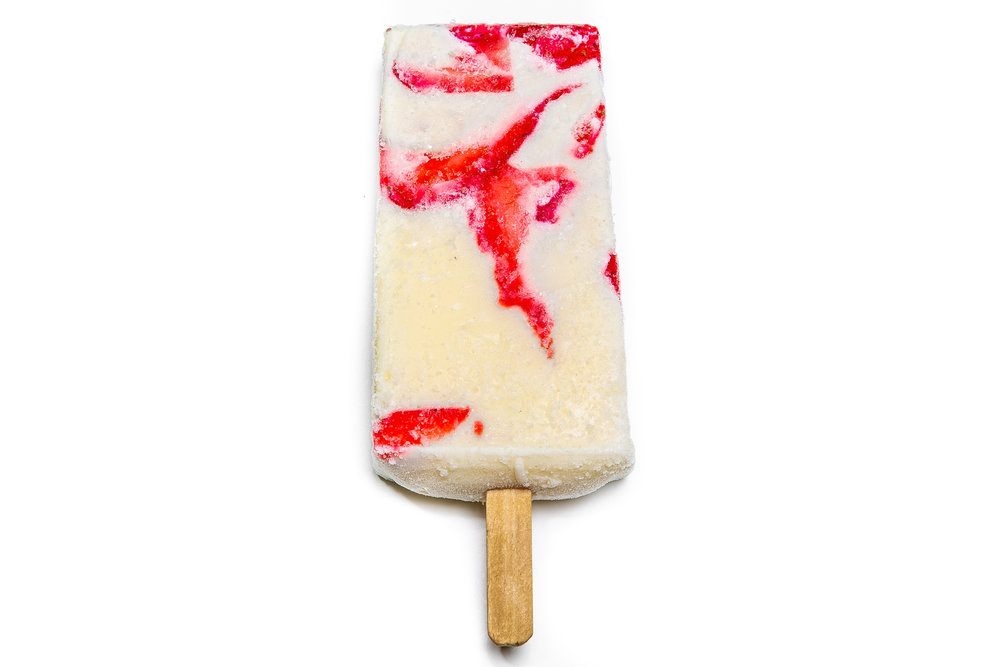 strawberry w/ cream popsicle