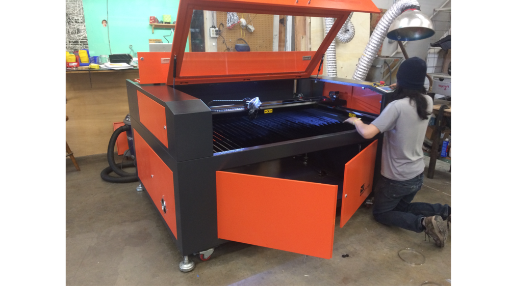 LASER CUTTING & ENGRAVING At 14ow, our CO2 laser is among the most powerful units in town, and with a 4' pass thru, also one of the largest in its class.   $2/min + $15 setup