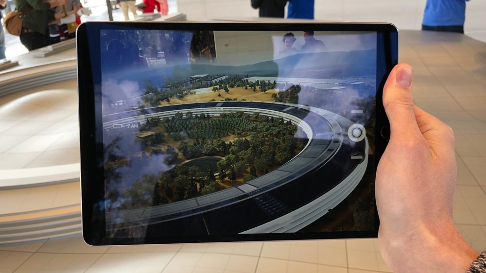 Apple Campus Visitor's Centre as seen through AR