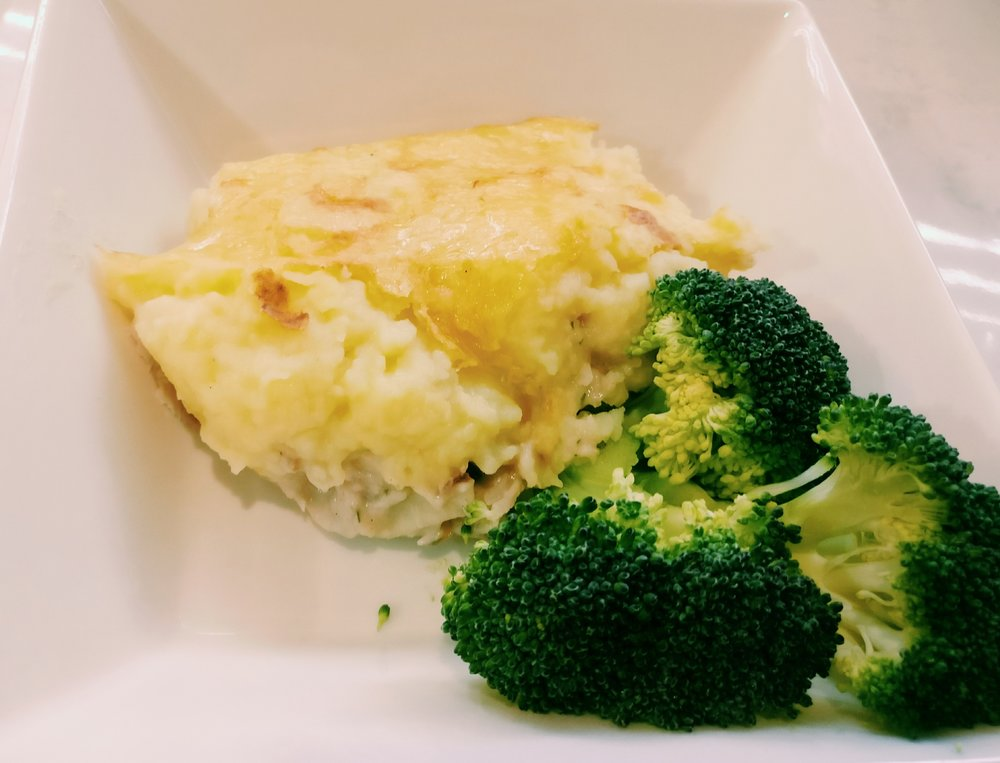 Smoked Fish Pie  - Ingredients500g Smoked fish1 Onion - diced1 Packet of Maggi smoked fish pie1 1/2C Milk5 large potatoesCheese (optional)Method1. Cut potatoes into small chunks and boil in a saucepan of water until they are soft2. Mash the potatoes with a little bit of butter and some milk3. Place the Maggi smoked fish pie mixture in a saucepan and add 1 1/2 cups of milk, bring to the boil and simmer for 2 minutes to thicken4. Add the smoked fish and chopped onion to the fish pie sauce and heat through5. Pour the fish and sauce mixture in an oven proof dish and top with the mashed potato, then top with grated cheese (if using)6. Bake in the oven until the cheese has browned on the top7. Serve with fresh or frozen vegetablesClick here for the video tutorial