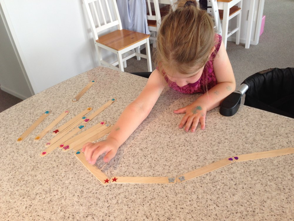 Shape dominoes - Instructions1. Using ice block sticks, place stickers on each end 2. Ensure that you use pairs of stickers so your little one can match them up3. Can use different shapes and also colors