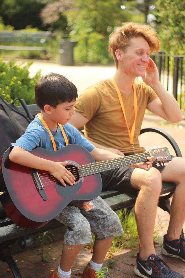 """Rockin' Rythym""with guitar teacher Zach at McKinley Park"