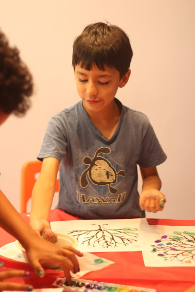 Mixing Colors, Summer Camp Art Class, DG Rocker's, Bklyn, NY