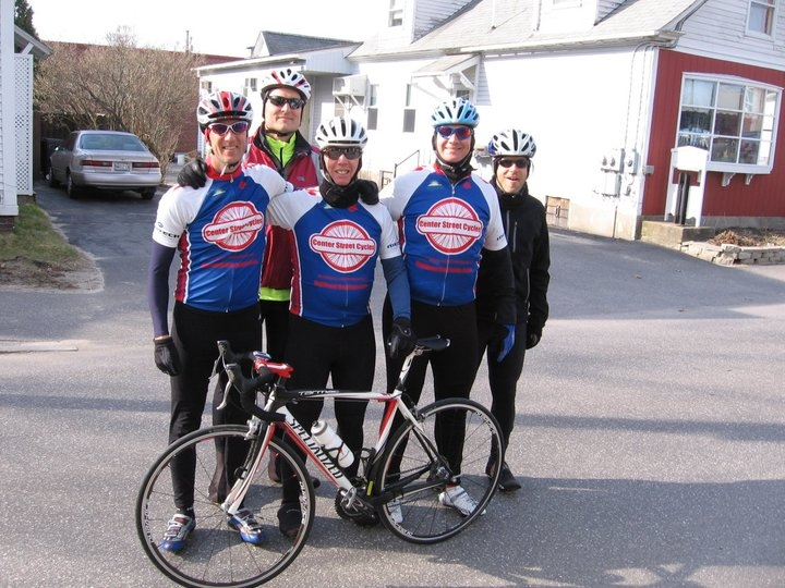Baby it's cold outside! Center Street Cycles staff and friends get ready for winter ride.
