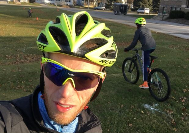 """Cycling takes your mind off your mind   ,"" shared Eric. "" It keeps you balanced and focused—something our Riding for Focus students learn on every ride."""