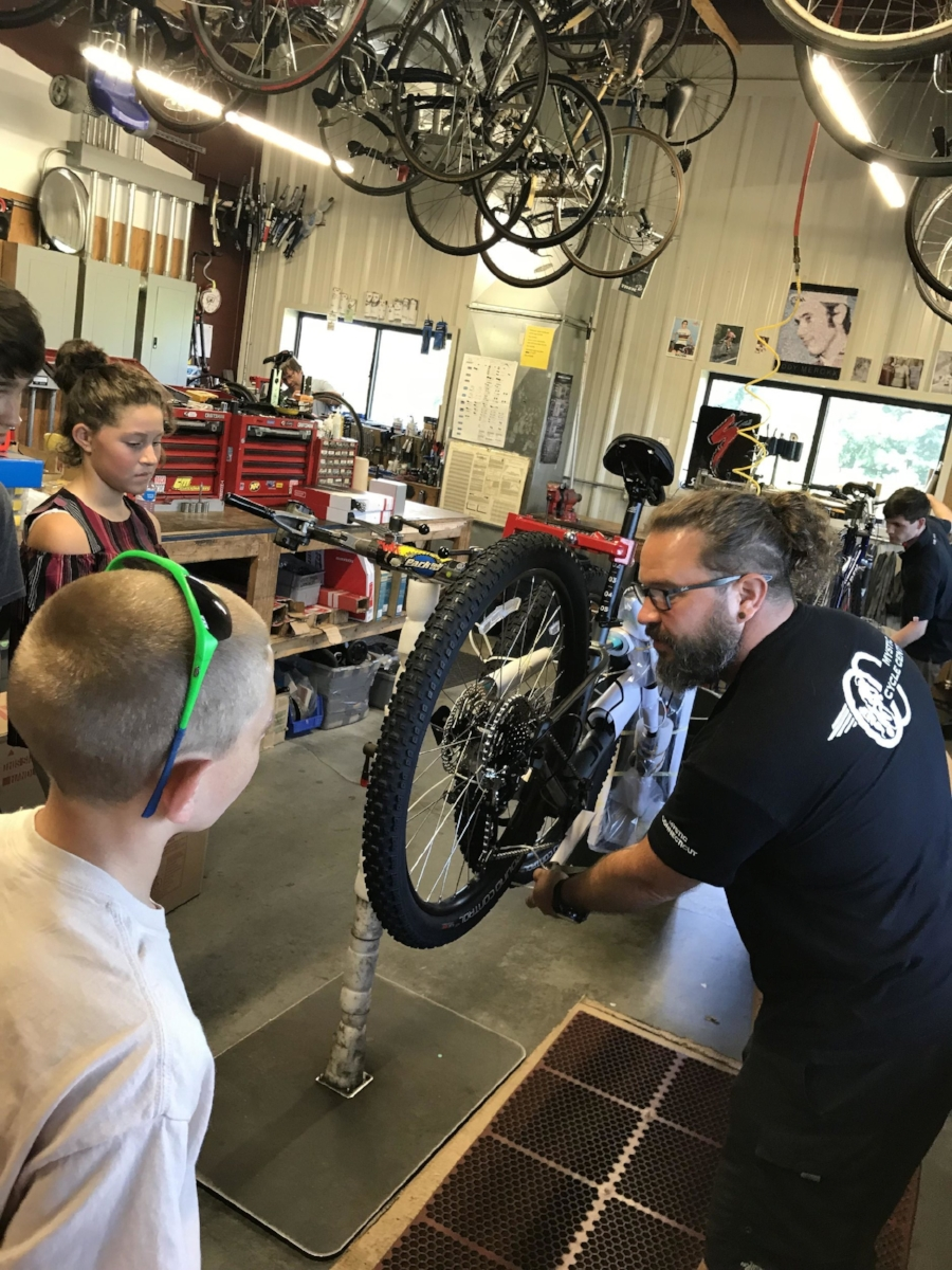 Ledyard Building Bikes at Mystic Cycle.jpeg
