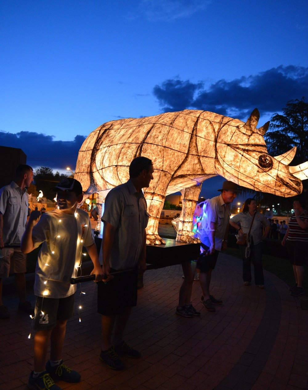 Photo: LANTERN PARADE 'Magical lantern sculptures display' taking place in the Dubbo CBD
