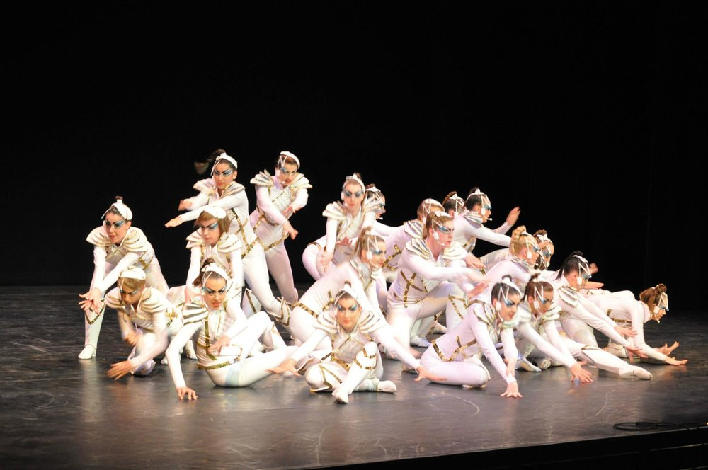 Photo: DANCE CHALLENGE 'One of the many dance studio who performed on stage'