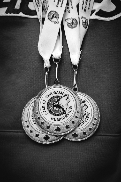 Humberview star of the game hockey medals
