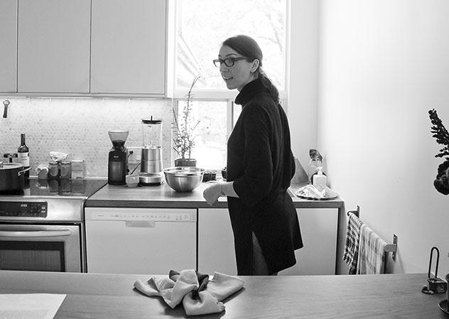 Lynette Gillis in her kitchen