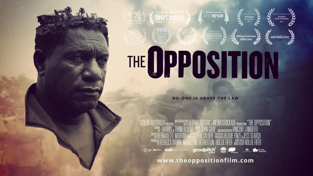 The Opposition - Hollie Fifer - Feature Documentary - 2016The Opposition, directed by Hollie Fifer and Produced by Media Stockade, asks the important question: How can we ethically build sustainable industry in developing countries? How can impoverished communities break free from the cycle of poverty and aid-dependence and develop economically – whilst balancing the needs of community, history and culture? The site for this unfolding drama is Paga Hill, the luscious mountain peninsula of Port Moresby – the paradise everyone wants to claim. More Info